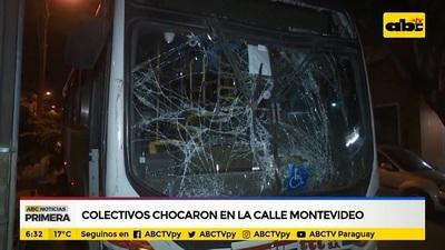Choque de buses en el microcentro deja heridos