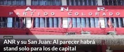San Juan Ara en la ANR, Stand solo para los de capital