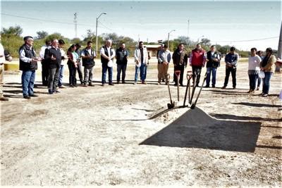 Dan palada inicial a nueva pavimentación en Mariscal Estigarribia