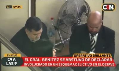 General Benítez se abstiene de declarar ante la Fiscalía