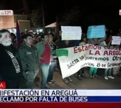 Movilización en protesta ante pésimo servicio de transporte