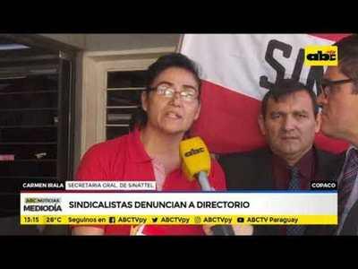 Sindicalistas denuncian a directorio