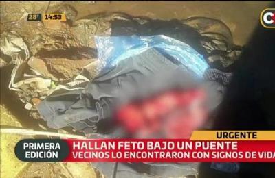Ñemby: Feto fue hallado bajo un puente