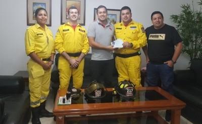 Municipalidad paga cinco meses de deuda a Bomberos Voluntarios
