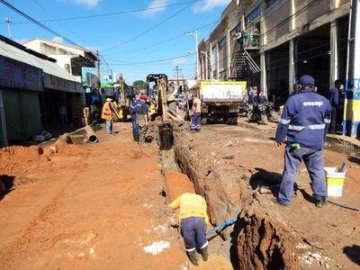 Culminan obras de alcantarillado sanitario en Luque