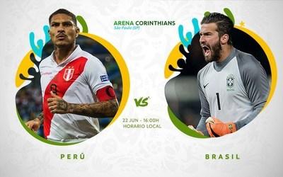 Perú y Brasil, duelo decisivo por la clasificación a cuartos de final