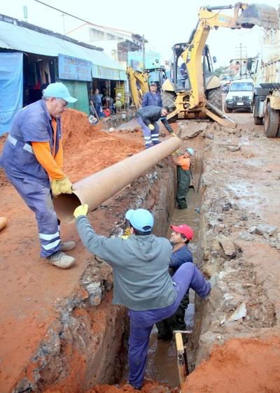 ESSAP culmina obras de alcantarillado sanitario en Luque