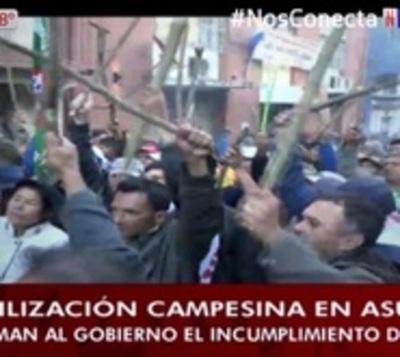 Campesinos no se irán de Asunción con las manos vacías