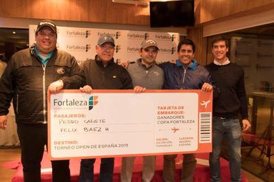 Fortaleza  premió a ganadores con un viaje para alentar a Fabrizio Zanotti en España