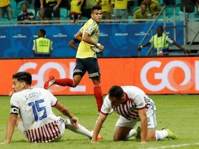 Un decepcionante Paraguay cae ante Colombia y queda pendiente de un milagro