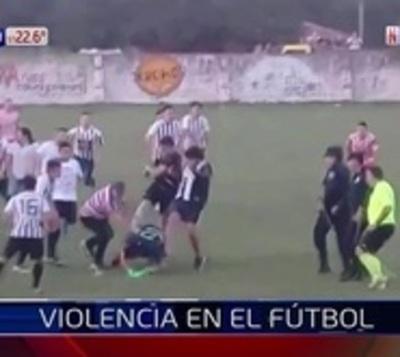Una vez más, ganó la violencia en el fútbol del interior