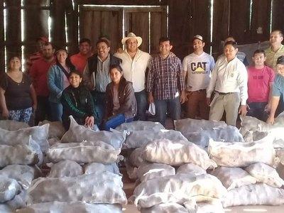 GOBERNACIÓN DE ITAPÚA ENTREGA SEMILLAS DE PAPA A COMITÉS DE PRODUCTORES