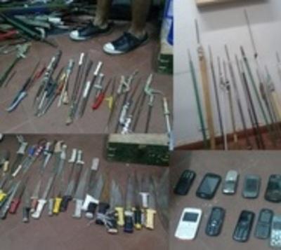 Más de 1.700 cuchillos en el penal de Tacumbú