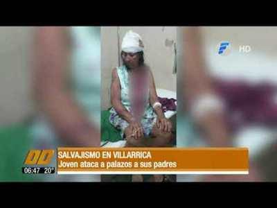 Salvajismo en Villarrica. Joven ataca a palazos a sus padres