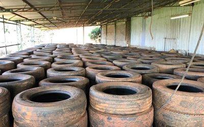 Habilitan recicladora de cubiertas en Santa Rita