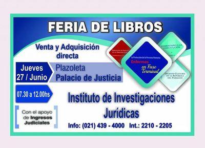 Se hará feria de libros en sede judicial de Capital
