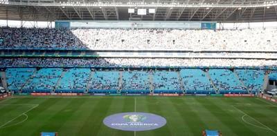 El césped del Arena do Gremio sigue en cuarentena antes del Brasil-Paraguay