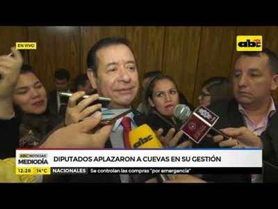 Diputados aplazaron a Cuevas en su gestión