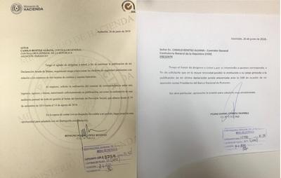 López y Correa piden a la Contraloría la publicación de sus declaraciones juradas
