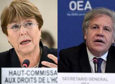 """Almagro cuestiona a Bachelet tras críticas a sanciones estadounidenses: """"Le da aire a un régimen oprobioso"""""""