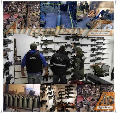 Secuestro histórico: incautan más de 2500 fusiles tácticos y miles de municiones