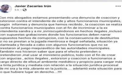 Zacarías anuncia denuncia contra Prieto por coacción y extorsión