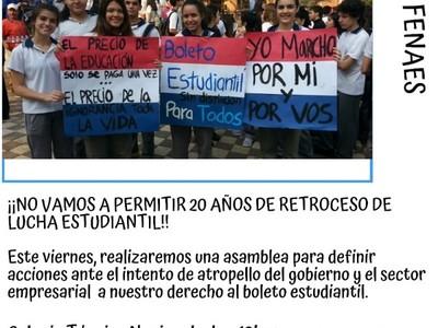 Repudian iniciativa para limitar el uso del boleto estudiantil