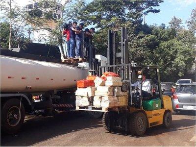 Interceptan camión cisterna con más de 20.000 kilos de marihuana