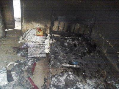 Octogenario muere en incendio de su vivienda