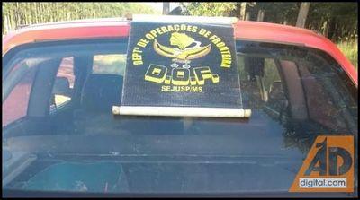 DOF apreende em Ponta Porã, dois carros carregados de contrabando