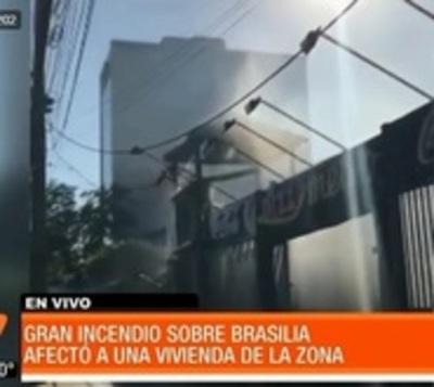 Local de comidas rápidas ardió en llamas en Asunción