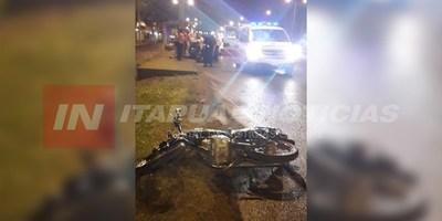 CAÍDA DE MOTOCICLETA CON DERIVACIÓN FATAL EN EL ACCESO AL B° KENNEDY