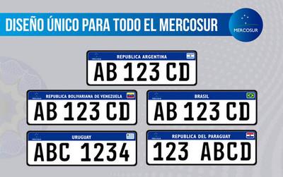 Entra en vigencia desde hoy las chapas con formato único para el Mercosur