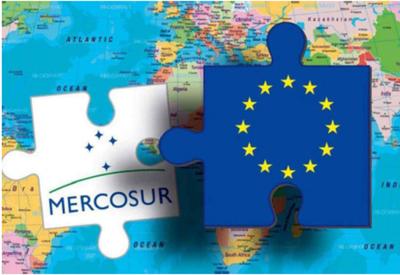 Unión Europea y Mercosur iluminadas