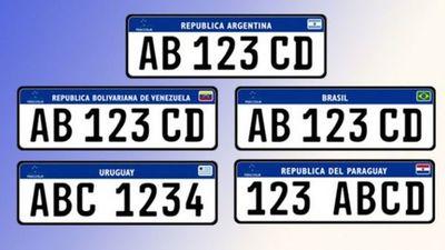 Rigen chapas unificadas del Mercosur