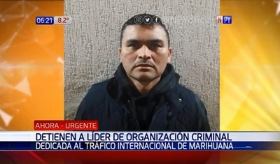 Capturan a líder del tráfico de marihuana