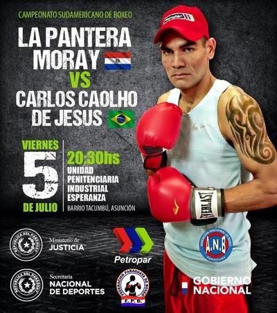 """""""La Pantera"""" Moray peleará este viernes el Sudamericano de Boxeo"""