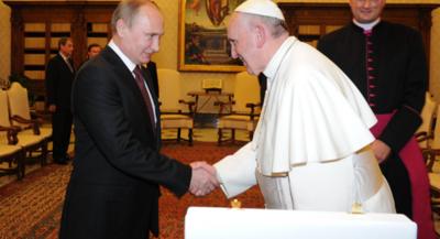El papa y Putin se reunieron durante casi una hora en el Vaticano