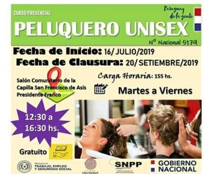 Dictarán curso de peluquería en Franco