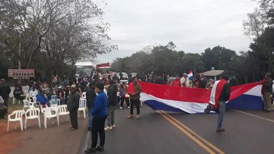 Ley Ñane Energía: varios cierres de ruta en Caaguazú