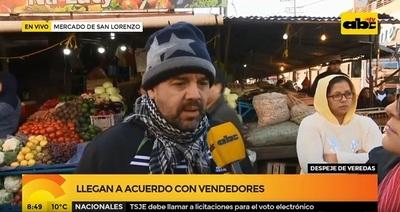 San Lorenzo: Vendedores acceden a ser reubicados
