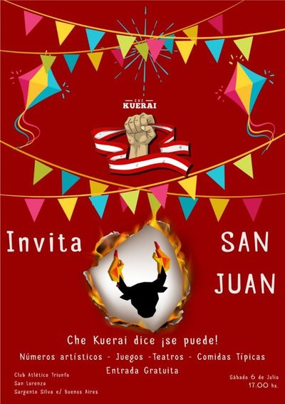 Che Kuerai promete buenos momentos en su fiesta de San Juan
