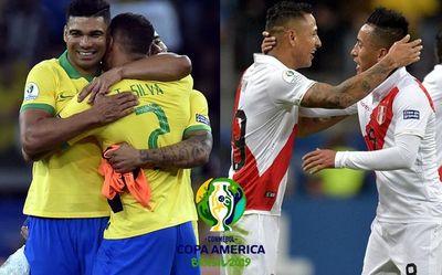 El favorito Brasil y el sorprendente Perú miden fuerzas para llegar al título