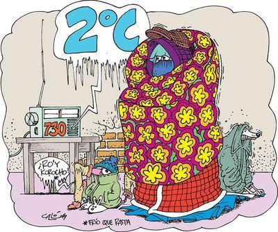 Frío polar pone en alerta al sistema  de salud pública