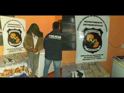 CAE PRESUNTO DISTRIBUIDOR DE DROGAS EN CAPITAN MIRANDA
