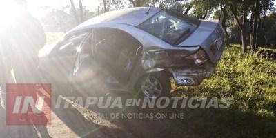 ACCIDENTE EN SAN JUAN DEL PARANÁ DEJA DAÑOS MATERIALES.