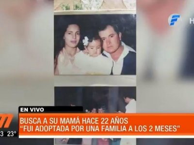 Zunilda busca a su mamá, a quien no ve desde que tenía 2 años