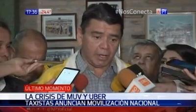 Taxistas sitiarán Asunción en protesta contra MUV y Uber