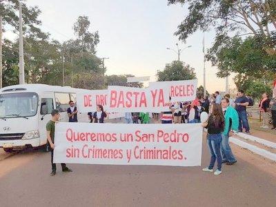 Pobladores piden paz y seguridad para el Departamento de San Pedro