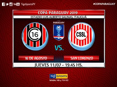 San Lorenzo se estrena en la Copa Paraguay ante 16 de Agosto